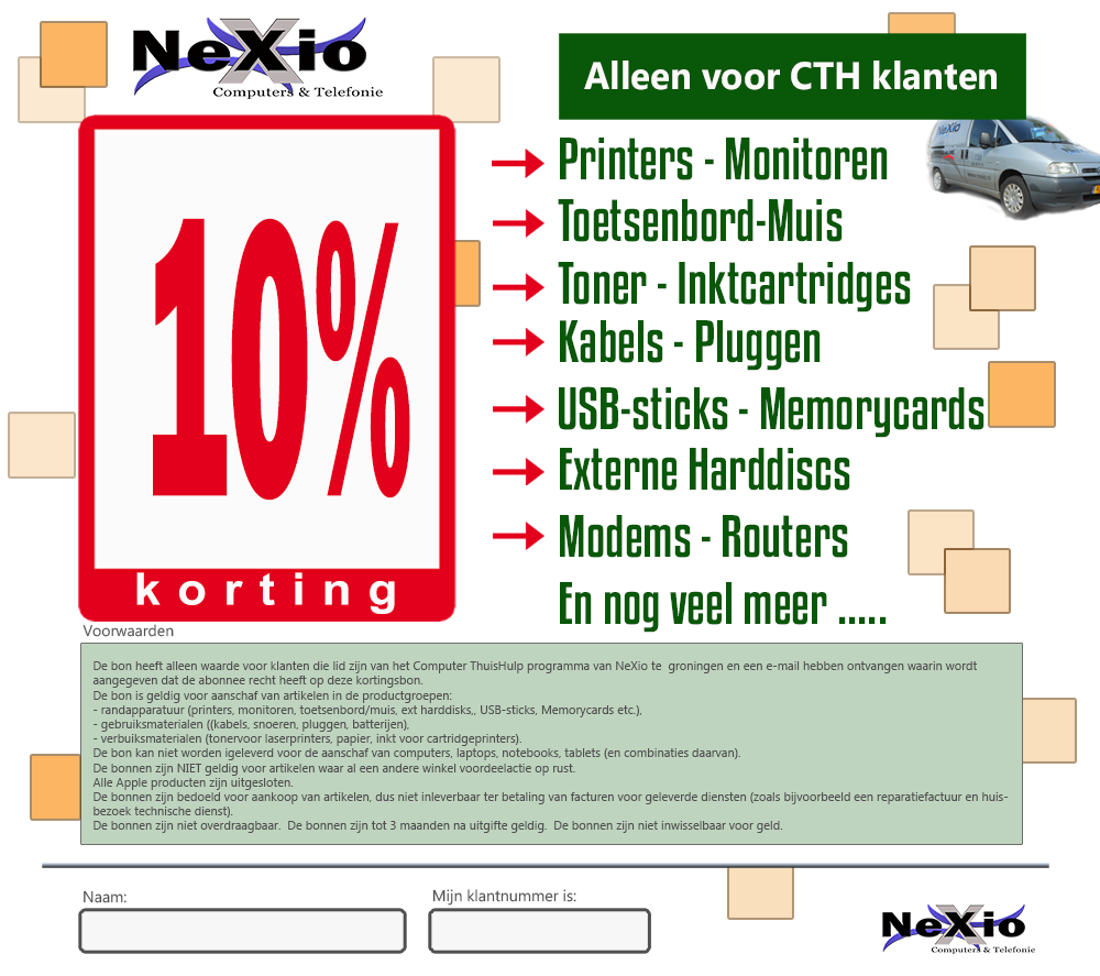 nexio - kortings coupon